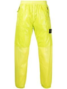 Stone Island зауженные спортивные брюки со вставками