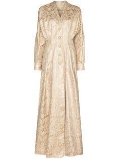 Sandra Mansour платье макси с цветочным узором