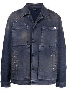Diesel джинсовая куртка в стиле милитари