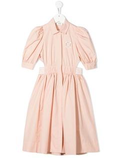 Fendi Kids платье с вырезами