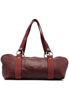 Guidi сумка-тоут с контрастными ремешками