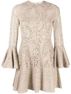 Patou платье мини из цветочного кружева