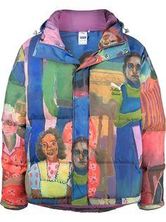 Puma куртка-пуховик с принтом из коллаборации с KidSuper