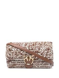 Pinko сумка на плечо Love из ткани букле