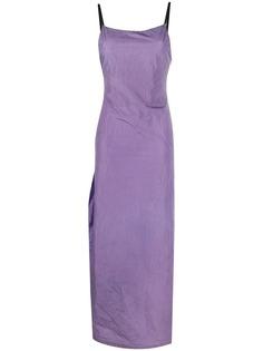 Heron Preston удлиненное платье с разрезом сбоку