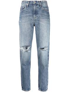 Calvin Klein Jeans укороченные джинсы с эффектом потертости