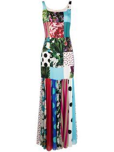 Dolce & Gabbana платье в технике пэчворк