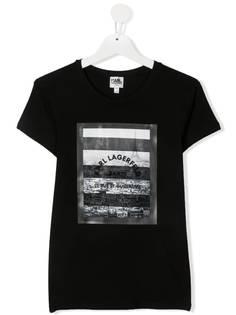 Karl Lagerfeld футболка с графичным принтом