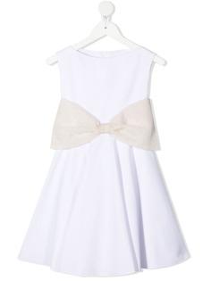 La Stupenderia платье с вельветовым бантом