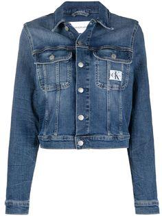 Calvin Klein Jeans укороченная джинсовая куртка