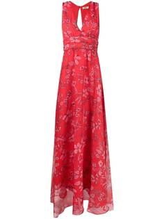 LIU JO расклешенное платье с цветочным принтом
