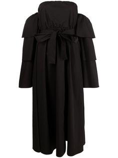 RED Valentino платье The Black Tag с ярусными рукавами