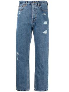 Trussardi джинсы прямого кроя с эффектом потертости