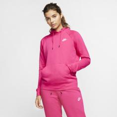 Женская флисовая худи Nike Sportswear Essential - Розовый