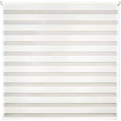 Штора рулонная день-ночь Miamoza Silver 180x175 см, цвет молочный