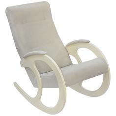 Кресло-качалка Комфорт-мебель Лара сливочный L grey v