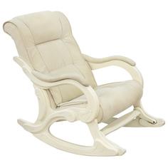 Кресло-качалка Комфорт-мебель Vanilla v Патрисия сливочный 69х126х96 см