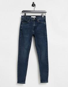 Черно-синие джинсы Topshop Jamie-Голубой
