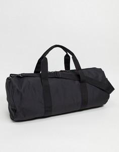 Черная спортивная сумка из нейлона с контрастным бегунком ASOS DESIGN-Черный