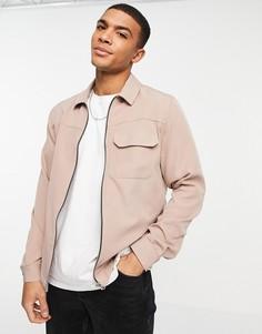 Розовая рубашка навыпуск River Island-Розовый цвет