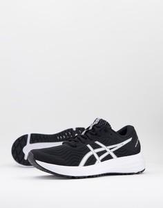 Черно-белые кроссовки Asics Running Patriot 12-Черный цвет