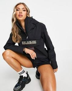 Черная куртка с короткой молнией Napapijri Rainforest Sum 3-Черный цвет