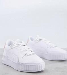 Белые кроссовки с серебристой отделкой Puma Cali Sport – эксклюзивно для ASOS-Белый