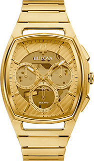 Японские наручные мужские часы Bulova 97A160. Коллекция CURV