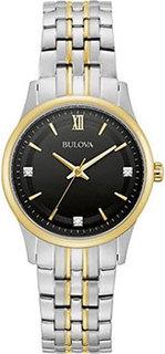 Японские наручные женские часы Bulova 98P196. Коллекция Diamonds