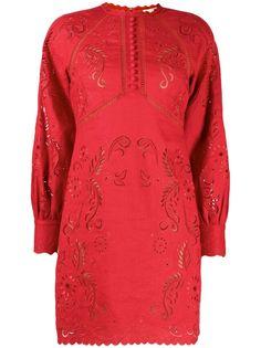 Michael Michael Kors платье мини с цветочной вышивкой