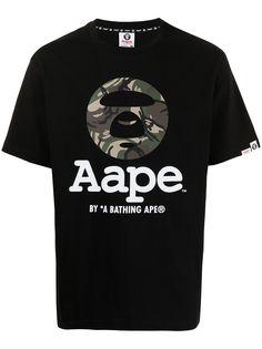 AAPE BY *A BATHING APE® футболка Og Moon Face с камуфляжным принтом