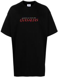 VETEMENTS футболка оверсайз Gvasalias с логотипом