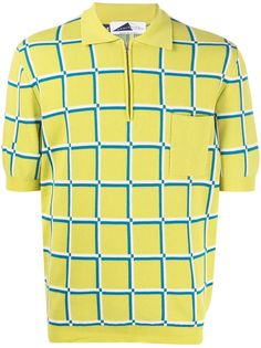 Anglozine клетчатая рубашка поло с короткими рукавами