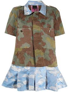 Pinko платье-рубашка Reimagine 2.0 с камуфляжным принтом