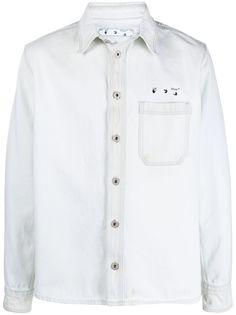 Off-White джинсовая куртка с логотипом Arrow