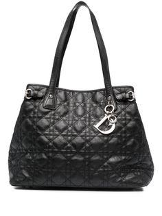 Christian Dior сумка-тоут Cannage Panarea Chrome 2011-го года