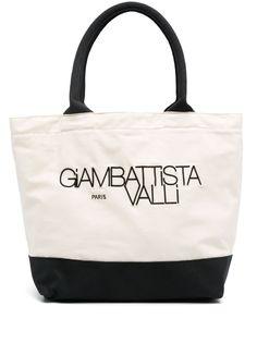 Giambattista Valli сумка-тоут с вышитым логотипом