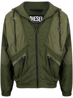 Diesel куртка с капюшоном и вставками
