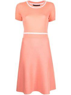 Paule Ka трикотажное платье с контрастной строчкой