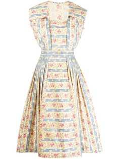 A.N.G.E.L.O. Vintage Cult расклешенное платье миди с цветочным принтом