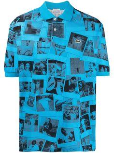 Lacoste рубашка поло с фотопринтом