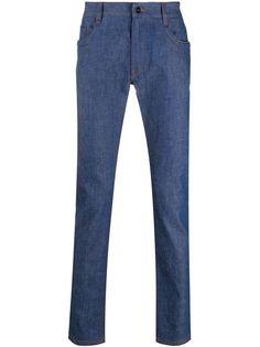 Fendi узкие джинсы с пятью карманами