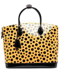 Louis Vuitton сумка-тоут Lockit 2010-го года из коллаборации с Yayoi Kusama