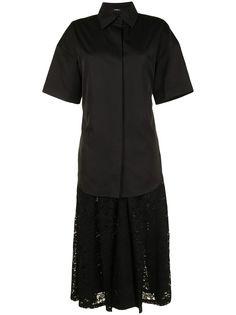 Goen.J многослойное кружевное платье со складками