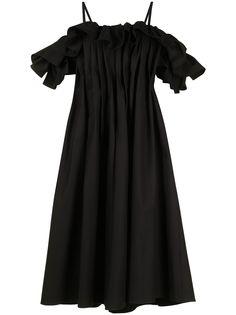 Goen.J платье миди А-силуэта с оборками