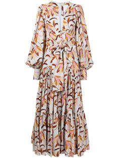 Acler расклешенное платье макси с цветочным принтом