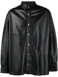 Trussardi рубашка с тисненым логотипом