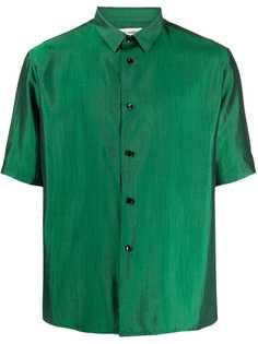 Saint Laurent рубашка с переливчатым эффектом