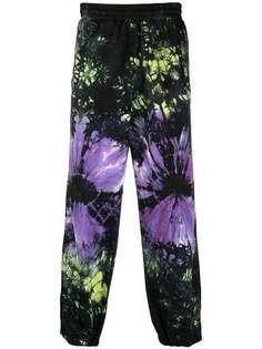 Aries спортивные брюки с принтом тай-дай