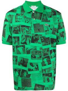 Lacoste рубашка поло с принтом